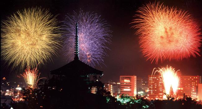 香貫山からの花火
