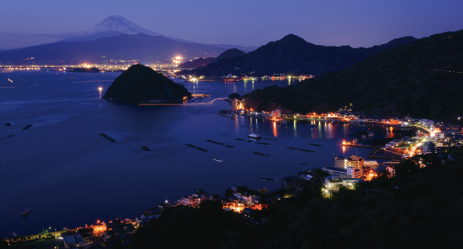 沼津市内浦の夜景